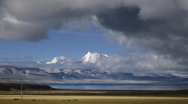 Mt Gurla Mandhata and lake Manasarovar, Tibet 2019