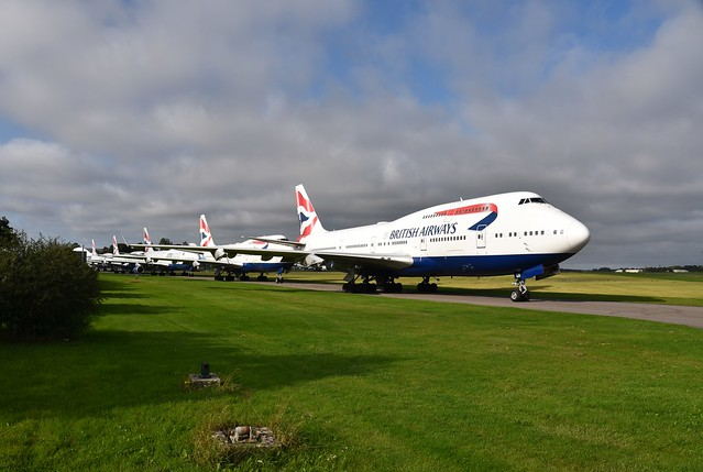 British Airways Boeing 747's. Kemble. 13-09-2020