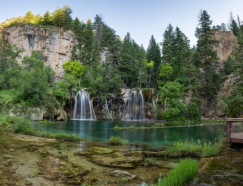 hdr hanginglake colorado co mountain sunrise glenwoodsprings goldenhour waterfall panoramic panorama