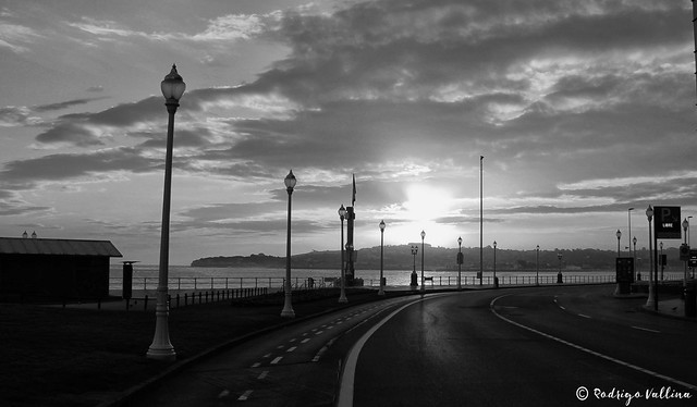 Amanece en Gijón