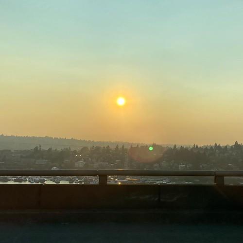 spooky orange wildfire smoke skies