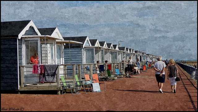 Beach huts at St Anne's, Fylde, UK