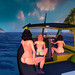 3 butts on a boat