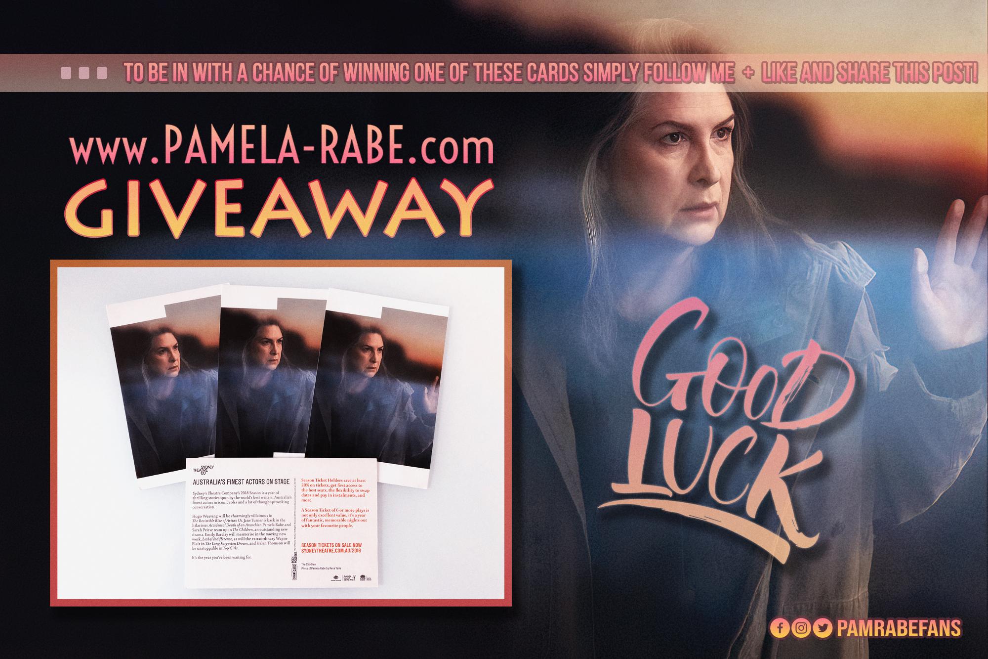 Pamela Rabe Giveaway