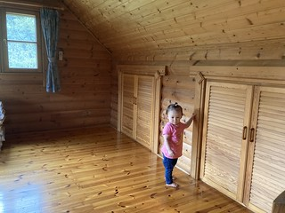 Momo likes the cabin futon storage