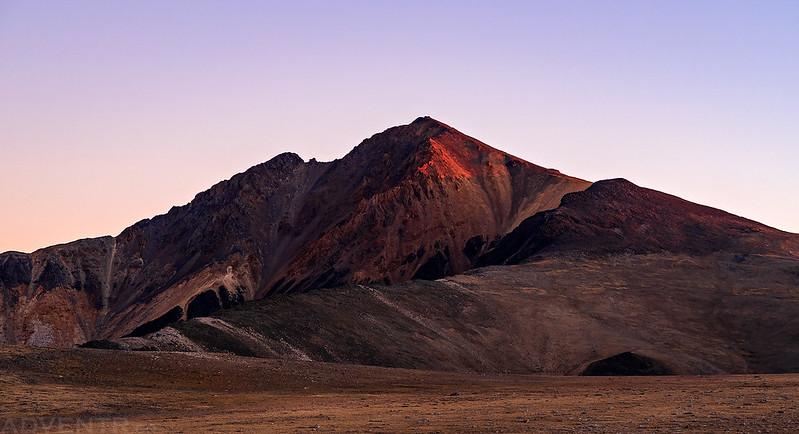 First Light on White Mountain Peak