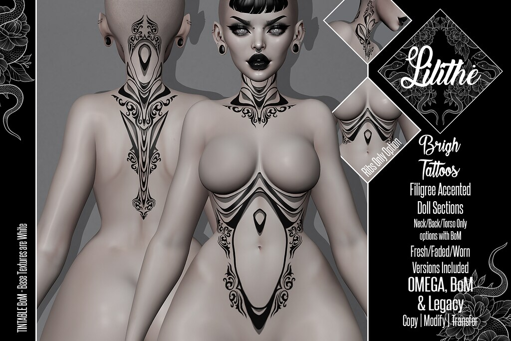 Lilithe'// Brigh Tattoos @ Engine Room