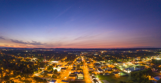 Sunrise over Cookeville, Putnam County, Tennessee