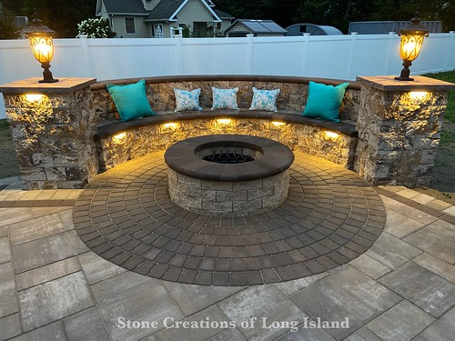 Outdoor Firepit - Ronkonkoma, NY 11779 | by Stone Creations of Long Island Pavers and Masonry
