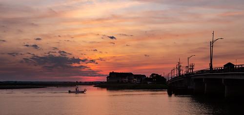 jersesyshore bay bridge newjersey nj stoneharbor sunset unitedstates