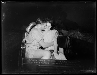 Couple photographed at Luna Park using an infra-red camera, 1943, Ivan Ives | by State Library of New South Wales collection