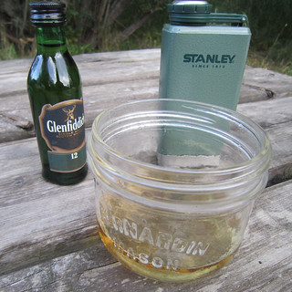 A wee dram at the campground