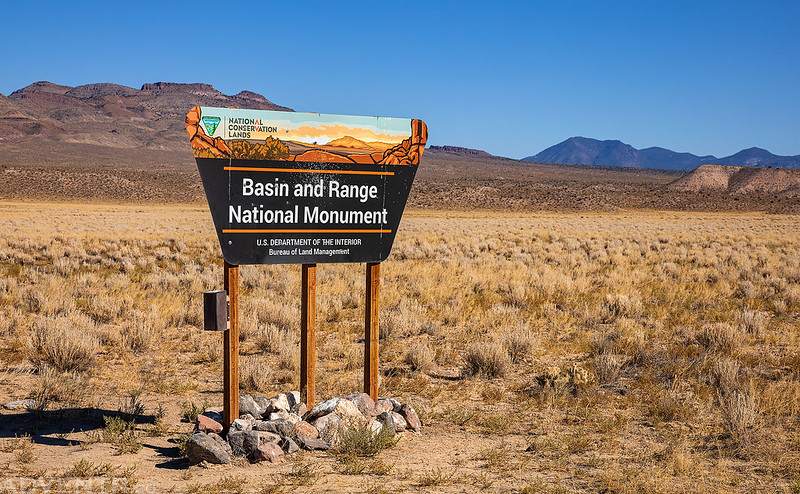 Basin and Range National Monument Sign