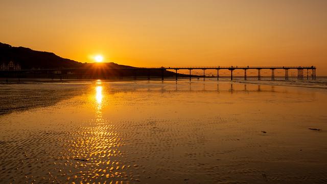 Golden Saltburn Sunset