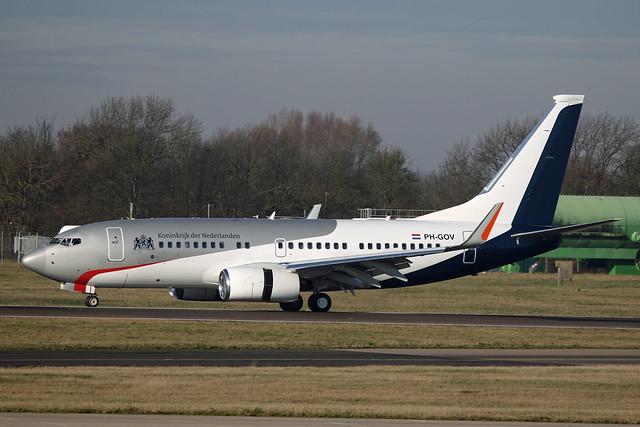 PH-GOV Boeing B737-700 Dutch Government Stansted 03rd December 2019