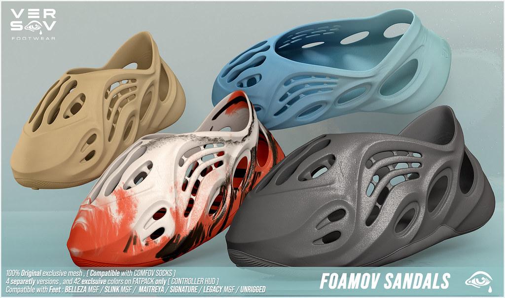 [ Versov // ] FOAMOV Sandals available at Kustom9