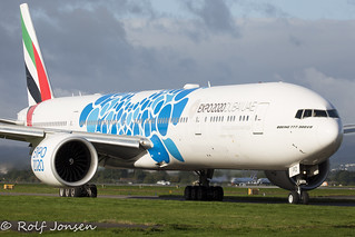 A6-EPD Boeing 777-300ER Emirates Glasgow airport EGPF 09.09-2020