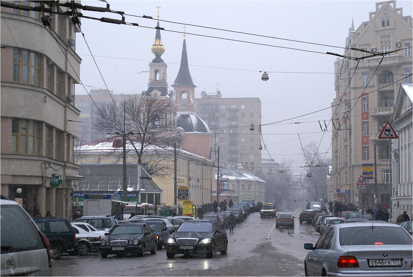 196. 2007. Новая Басманная улица, вид от сквера у площади Красных ворот