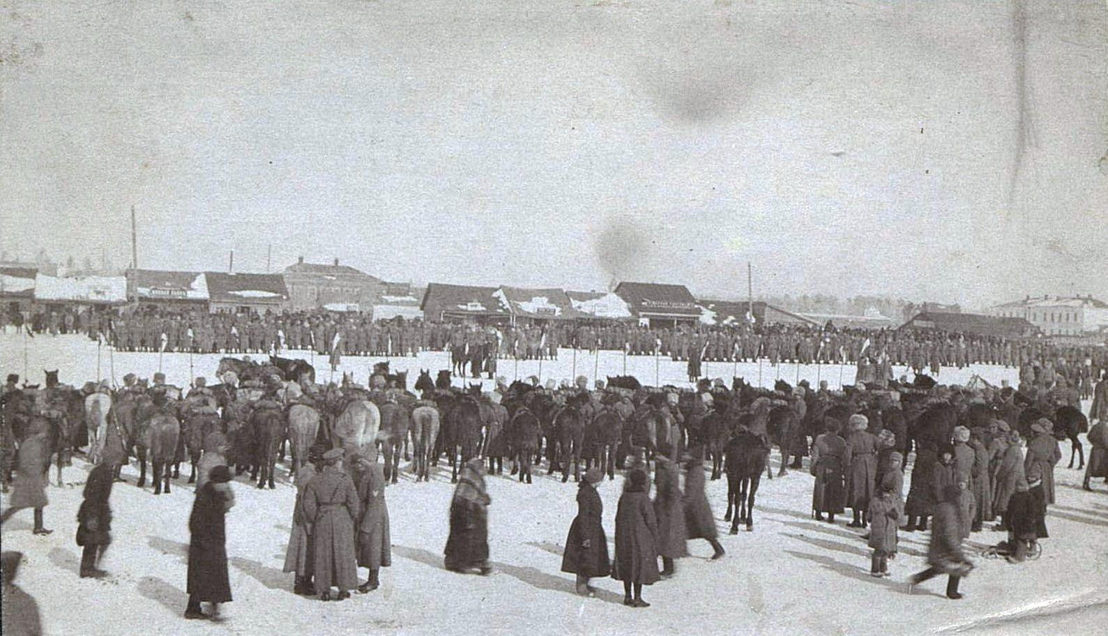 Польский парад. Ново-Николаевск. 1919 .