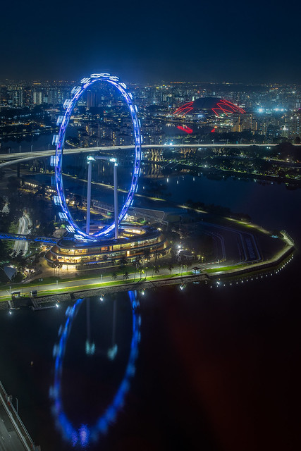 Singapore Flyer and Sports Hub