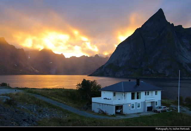 Sunset, Toppøya, Lofoten, Norway