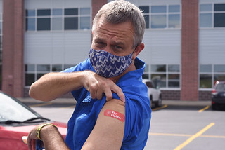 Thu, 09/03/2020 - 11:43 - Photograph of the September 3, 2020 Flu Shot Clinic at Genesee Community College