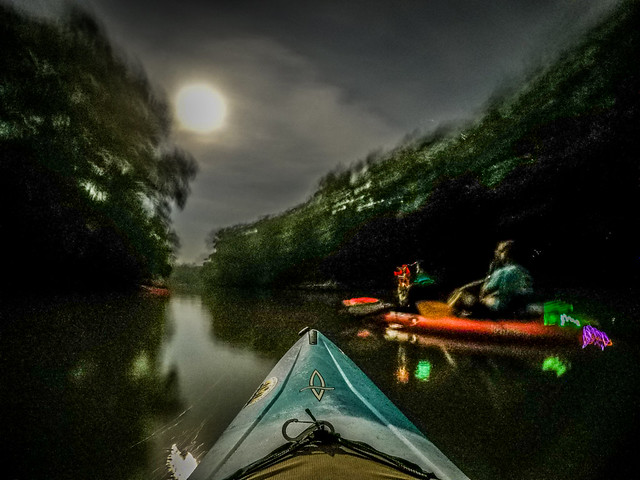 Moonlight Paddle on the Saluda River-11