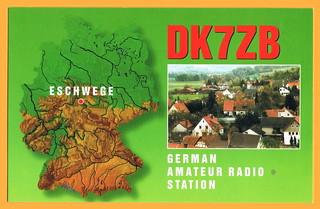 QSL-Karte DK7ZB (Front)