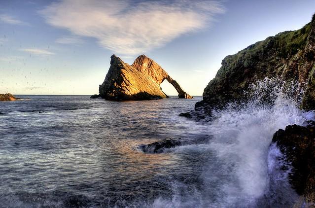 Bow Fiddle Rock, Portknockie, Moray, Scotland, UK