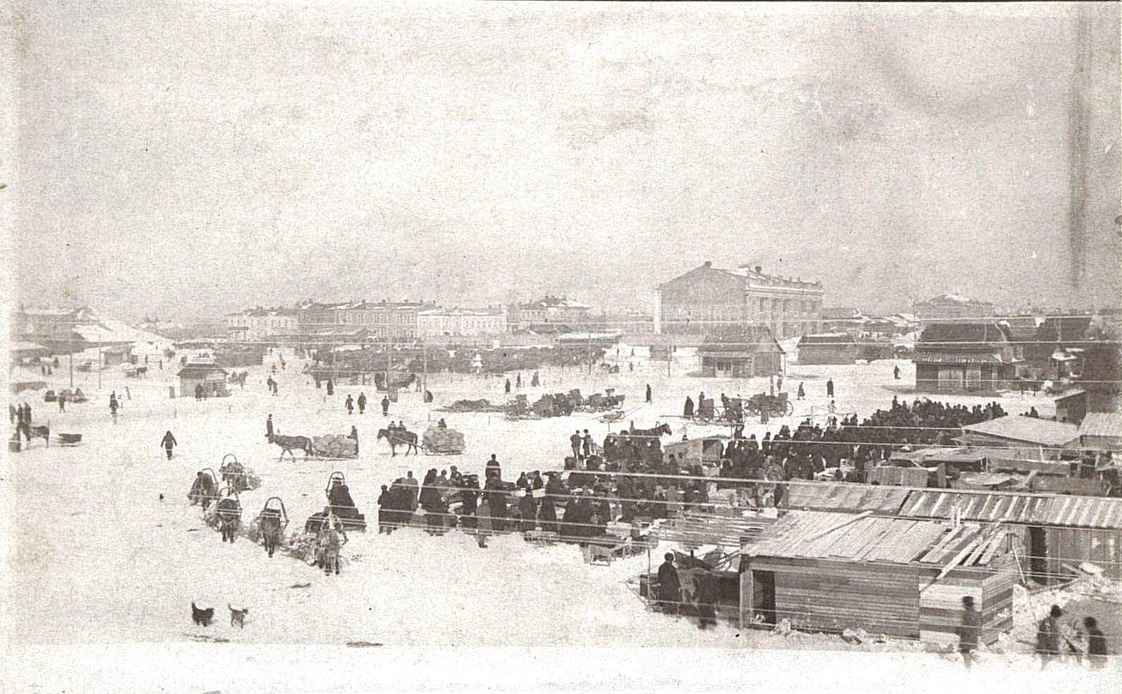 Базарная площадь. Ново-Николаевск. 1919