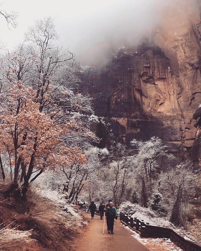 Zion Nat'l Park - Narrows trail December 2019