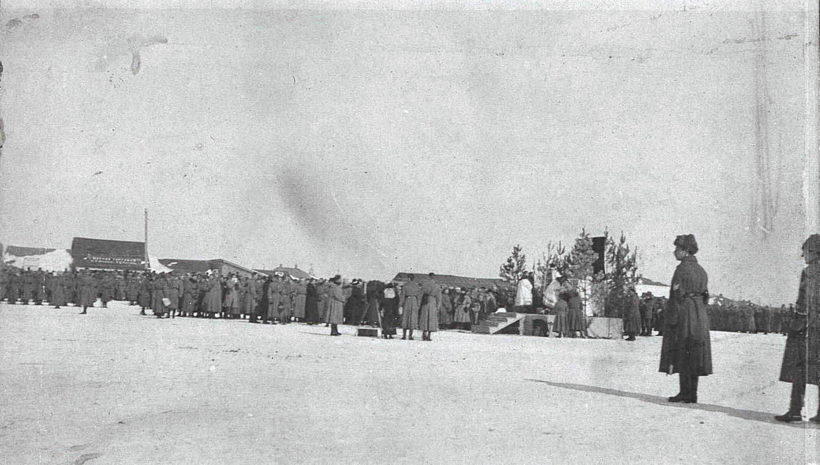Польский парад. Католическое богослужение. Ново-Николаевск. 1919