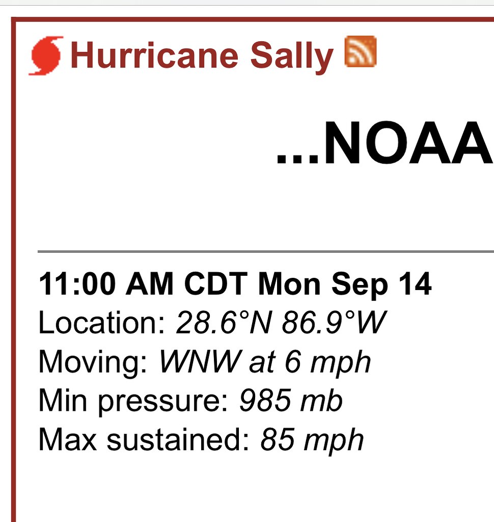 Sally Becomes a Hurricane