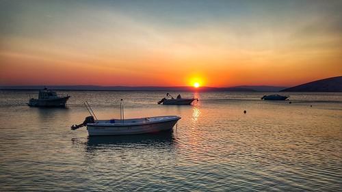 sun sunset dusk seaspece boat xiaomi smartphone phone