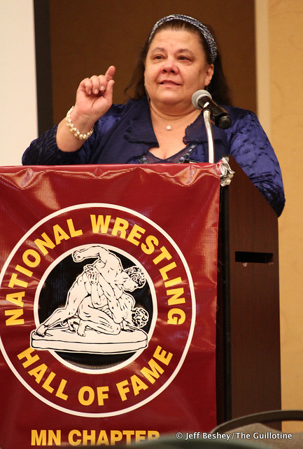2020 National Wrestling Hall of Fame, Minnesota Chapter Lifetime Service inductee Mary Davis. 200913AJF0054