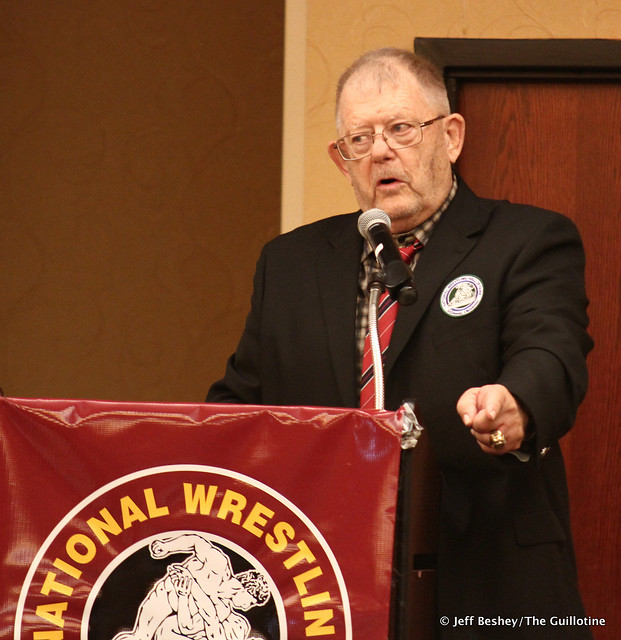 National Wrestling Hall of Fame, Minnesota Chapter President Spencer Yohe. 200913AJF0013