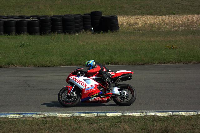 Roulage moto au Circuit de Bresse