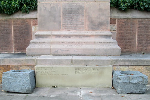 Further Names Hawarden War Memorial 6