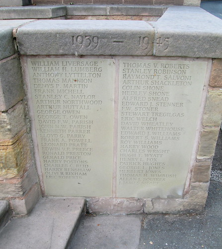 Hawarden War Memorial World War 2 Names