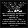 Vefat Haberi - Hatice YILMAZ