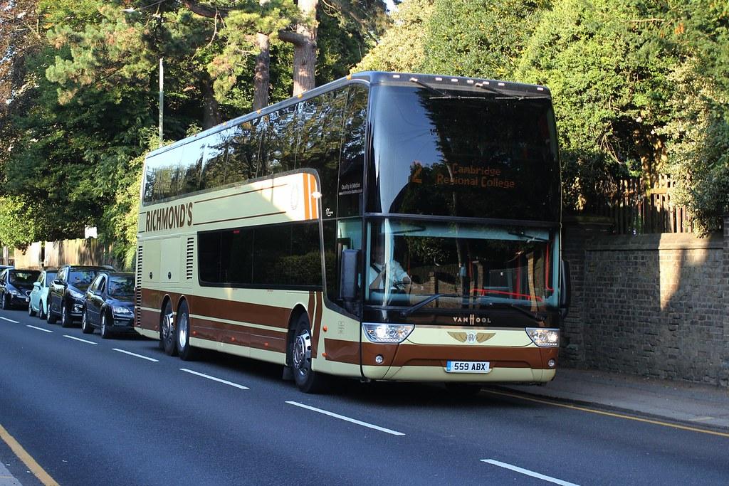 Richmond's Coaches , Barley , Royston , Hertfordshire . 559ABX . Stansted Road , Bishop's Stortford , Hertfordshire . 14th-September-2020 .
