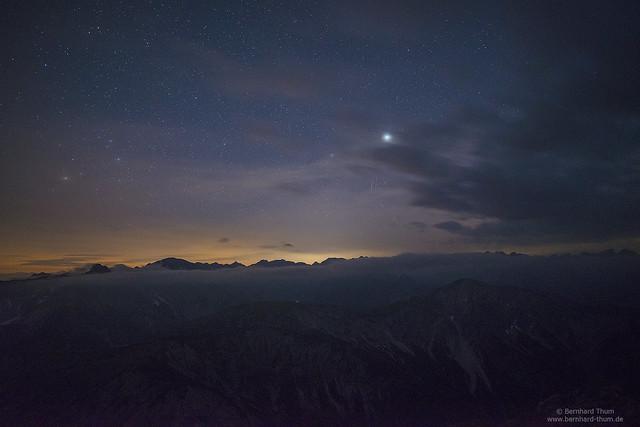 Starry night over Karwendel N°3