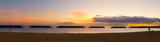 10 Image Sunset Pano