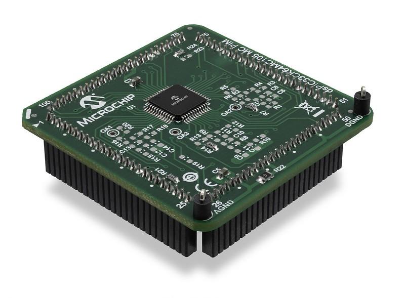 dsPIC33CK64MC105 External Op Amp Motor Control Plug-in Module (PIM) MA330051-1