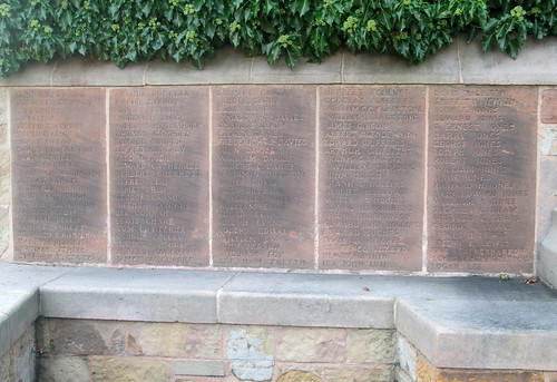 Great War Names Hawarden War Memorial