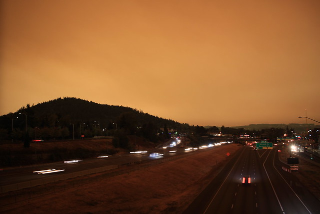 Mount Talbert, Interstate 205 (south), Oregon wildfires smoky sky