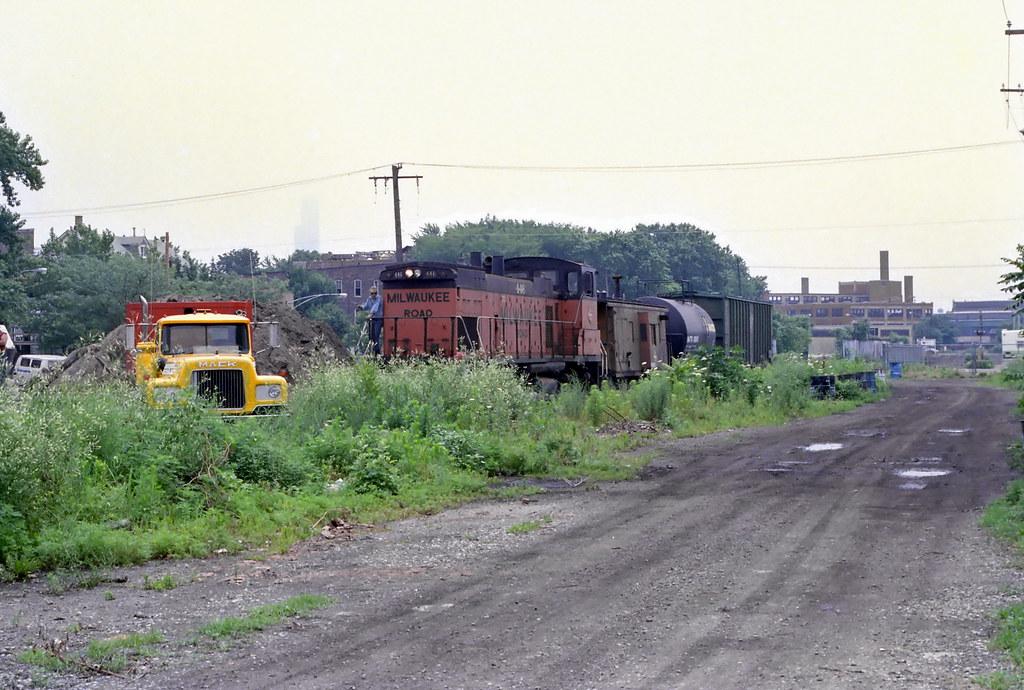 Tracks Blocked! Milwaukee Road Lakewood 7-10-86 8