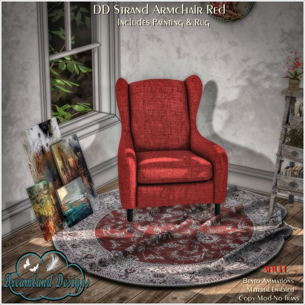 DD Strand Armchair Red-ADULT AD