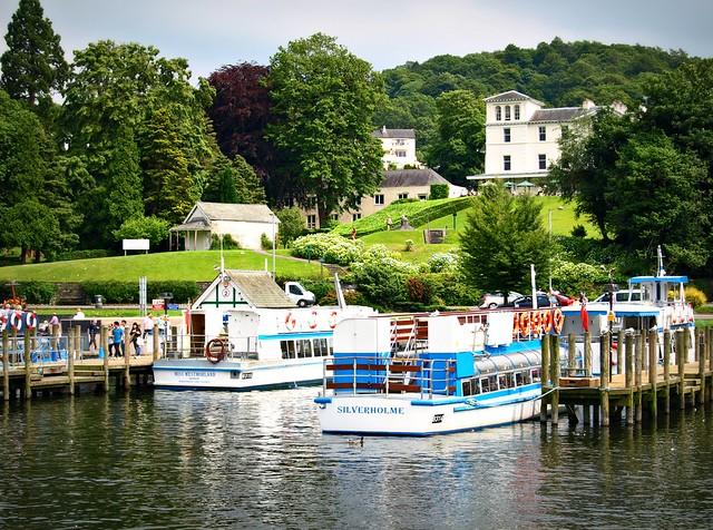 Lakeside scene Windermere in Cumbria