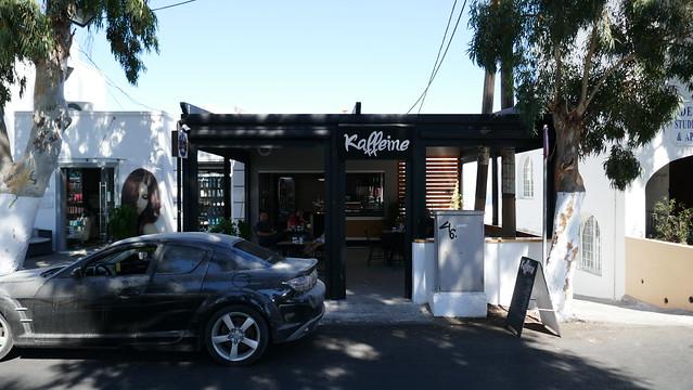 Kaffeine coffee shop, Fira, Santorini